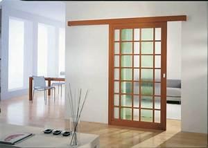 la porte coulissante19 exemples de portes cools et lissantes With porte coulissante en bois et verre
