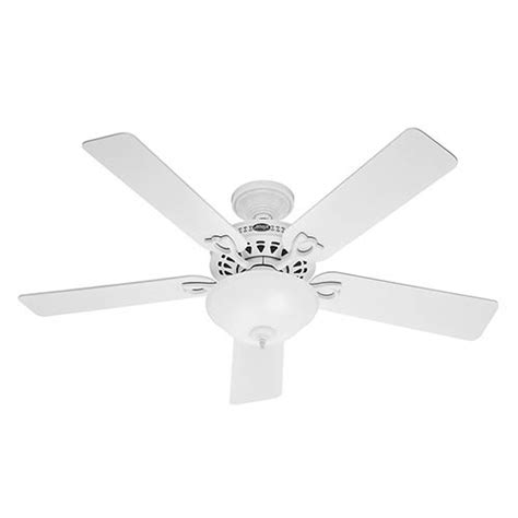 52 inch white ceiling fan the astoria white two light 52 inch ceiling fan hunter