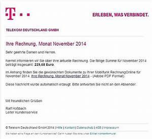 Telekom Rechnung Online Anschauen : gef lschte telekom rechnung mit virus sorgt f r rger computer medien badische zeitung ~ Themetempest.com Abrechnung