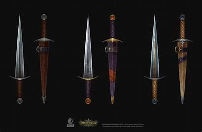 Pathfinder Kingmaker Sword Short Painted Weapon Artstation