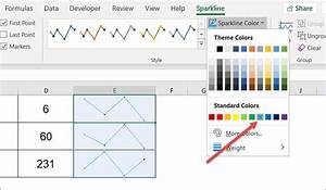 How To Format Line Sparklines Excelnotes