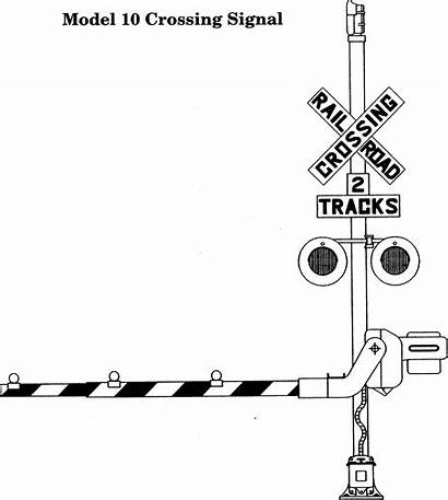 Crossing Railroad Clipart Coloring Train Pages Gate