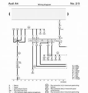 The Audi A4 U0026 39 S Wiring Diagram For Ignition  Starter Switch  Main Fuse
