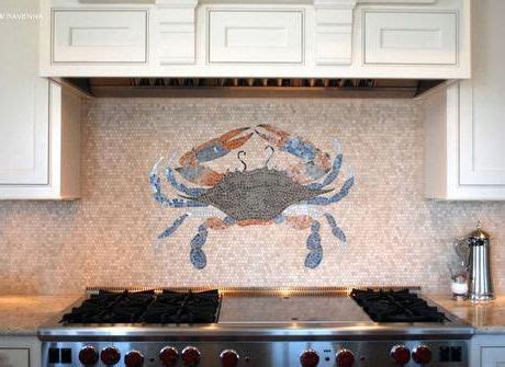 Unique rock Backsplash Behind Stove   Mosaic tile