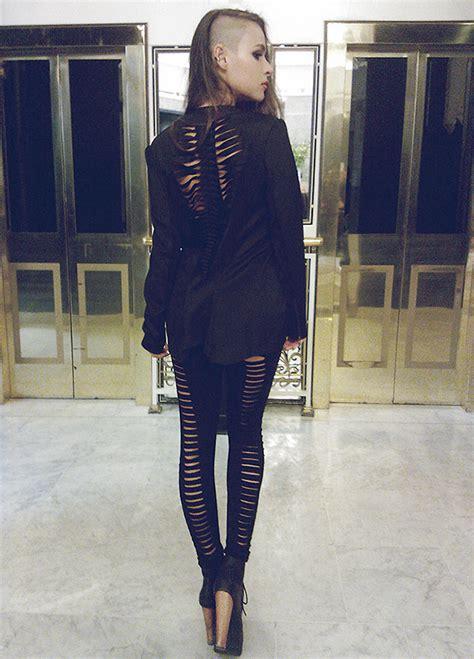 paula suchowera choies black 3d neoprene blazer vintage