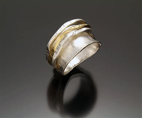 fun ring ii by sana doumet gold silver ring artful home