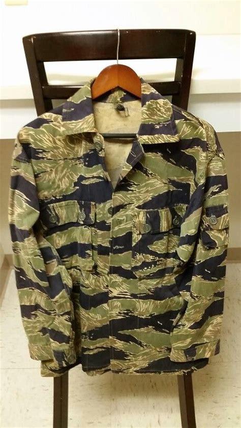 military vietnam tiger stripe camouflage blouse camo