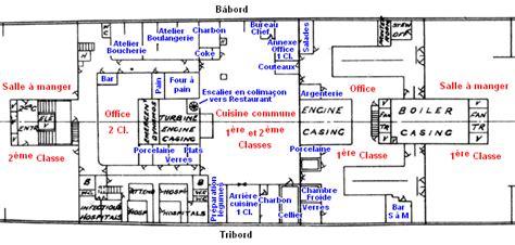 plan d une cuisine de restaurant les cuisines du titanic