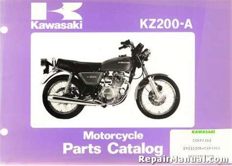 1978 Kawasaki Kz200-a Motorcycle Parts Manual