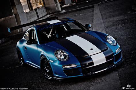 2012 Porsche Gt3 Rs Satin Blue By Royal Muffler
