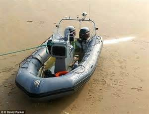 Inflatable Boat Kent by Eighteen Migrants Rescued In The Channel After Boat