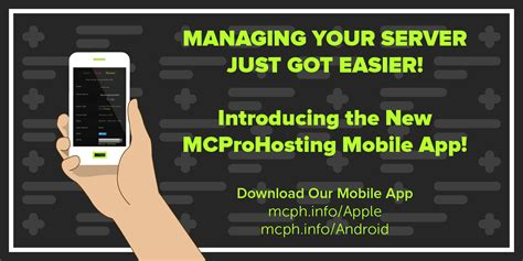 minecraft mobile app introducing the new mcprohosting mobile app