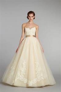 11 exquisite wedding dresses from lazaro onewed With pale yellow wedding dress