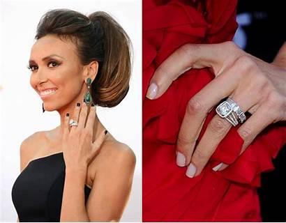 Rings Engagement Celebrity Ring Giuliana Cushion Famous