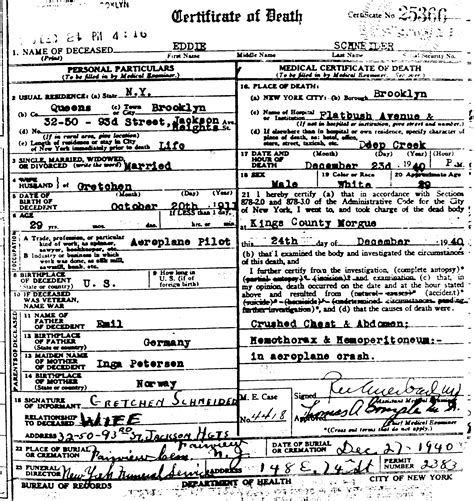 death certificate familypedia fandom powered  wikia