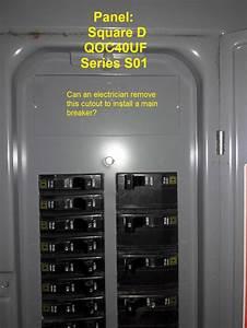 Add A Main Shutoff Breaker To Sub Panel