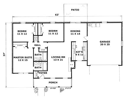 a house plan ranch house floor plans with walkout basement house plan