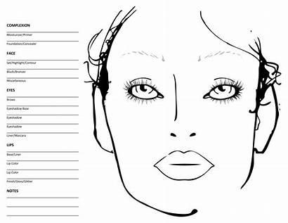 Chart Blank Template Eye Mac Face Makeup