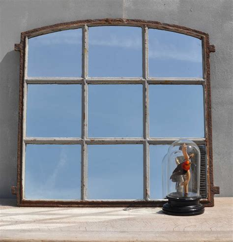 industrial bathroom mirror uk industrial cast iron factory window mirror home barn vintage
