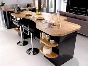 Table Noir Et Bois : d co cuisine noir et bois ~ Teatrodelosmanantiales.com Idées de Décoration