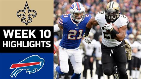 Saints Vs Bills  Nfl Week 10 Game Highlights Youtube