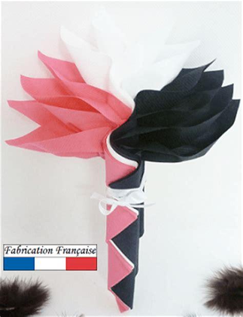 pliage serviette noir et blanc pliage de serviette fleur x1 ref 10057