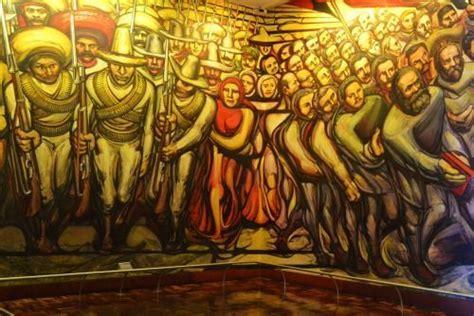 mural de david alfaro siqueiros en el castillo de