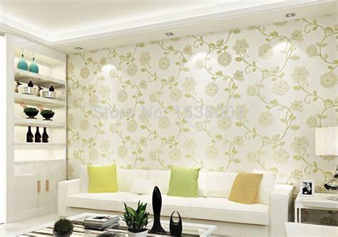 european simple wallpaper green leaf design  woven