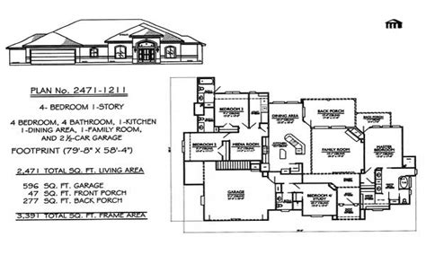4 bedroom floor plans one 4 bedroom ranch house plans 1 4 bedroom house plans