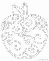 Apple Coloring Pages Don Apples Colouring Sheet Fall Pattern Template Harvest Version Colored Cp Card Sm sketch template
