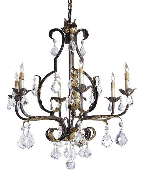 currey and company 9828 tuscan six light chandelier