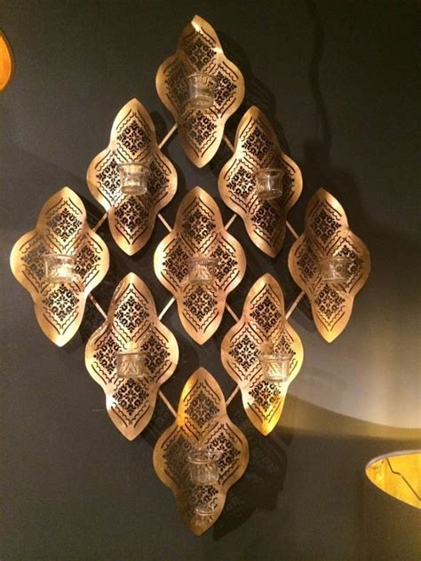 gold wave wall t lights holder mulberry moon