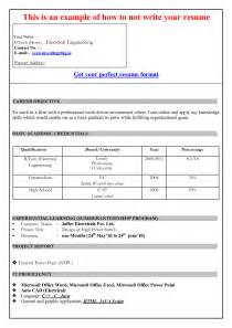 curriculum vitae format in ms word 2007 english cv model word
