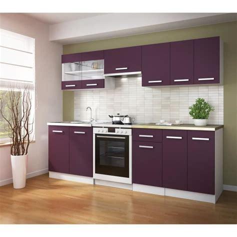 ultra cuisine compl 232 te avec plan de travail l 2m40 aubergine mat achat vente cuisine