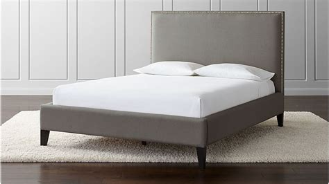 cole upholstered bed crate  barrel