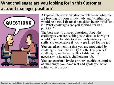 Account Manager Questions by Customer Account Manager Questions