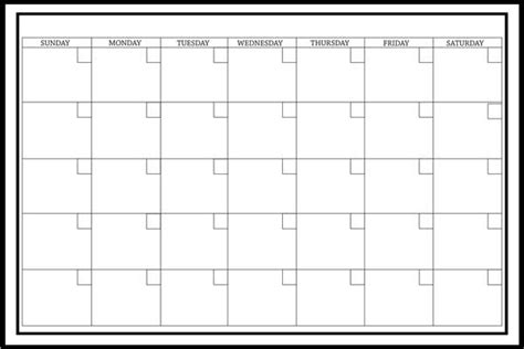 amazoncom large white monthly dry erase calendar decal home improvement