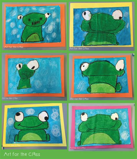 preschool art project ideas last week my class made these adorable frog artworks we 272