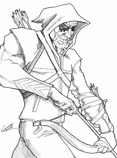 Arrow Coloring Deviantart Pages Superhero Dc Drawing
