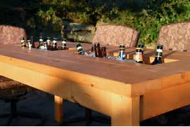 Make Outdoor Wood Table by A DIY Table With Built In Drink Coolers Is The Perfect Way To Beat The Heat