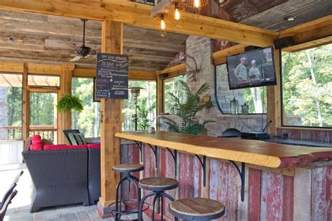 chic outdoor kitchens  bar design  country rustic