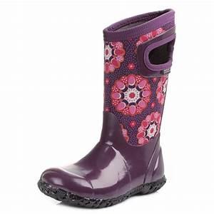 Kids Girls Bogs Kaleidoscope Purple Multi Wellies ...