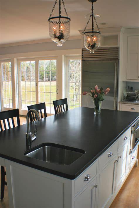 colorful kitchen backsplash absolute black honed granite kitchen contemporary with