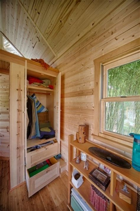tiny house closet sweet pea tiny house plans big enough to start a family