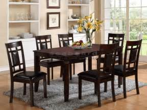 7 pc dining room set 7 dining room set in brown 2325