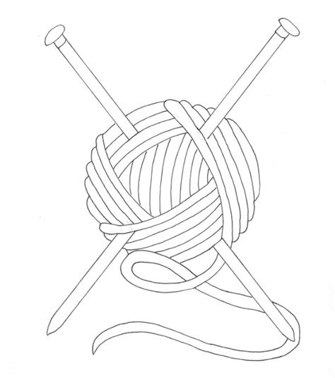 ball  yarn coloring page wee folk art