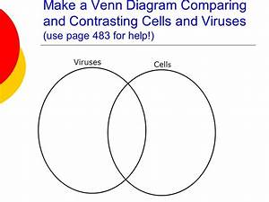 Venn Diagram Comparing Viruses And Cells