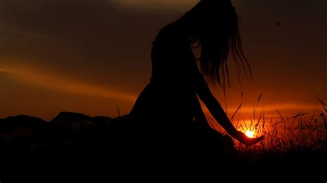 wallpaper sunset woman  hd  photography