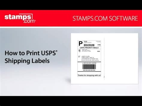 stampscom   print usps shipping labels youtube