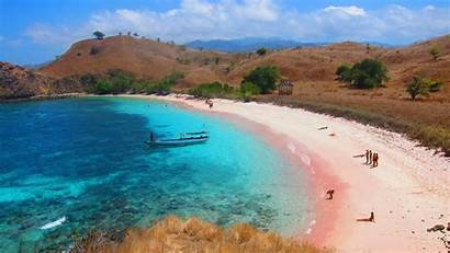 Pink Indonesia Beaches Komodo Beach Island Ntt
